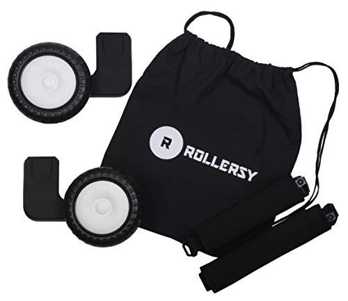 ROLLERSY - Räder mit Griff/Tragegurt für eine Babyschale 0-13 kg, Farbe: BLACK
