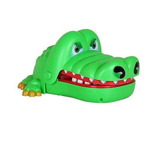 Deanyi Crocodile Biting Finger-Spielzeug Kreative Tooth Zeichnung Spiel Biting Hand Crocodile Eltern-Kind Ganz Spielzeug Guts Challenge-Spielzeug-Finger-Biting-Spiel für Kinder Erwachsene