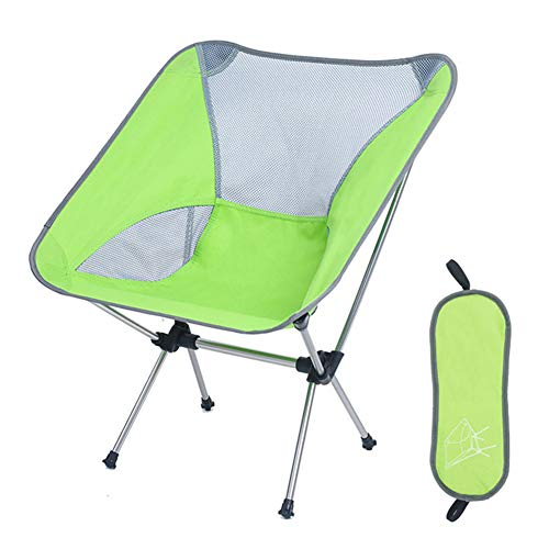 Asdomo Silla de camping portátil – compactas ultraligeras plegables para mochilas, pequeñas y plegables, plegable y ligera en una bolsa para exteriores, camping, picnic, senderismo