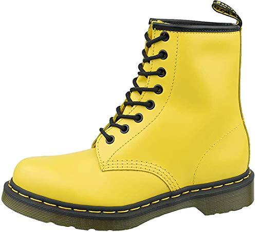 Dr. Martens Men's 8 Eye Boots, Yellow, 8-8.5 Medium US