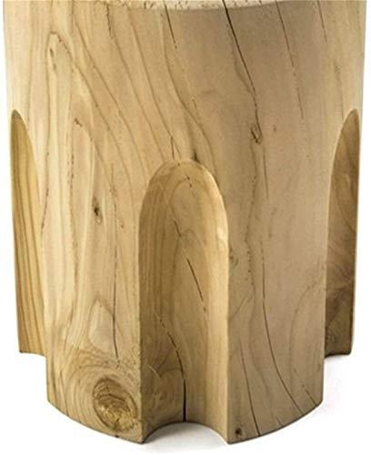 ZXNRTU Diseño Simple Mesa de Madera Moderna Accent Side Tabla de café Decoración de Muebles for Sala de Estar Balcón hogar y la Oficina Lado Estrecho (Color : Natural, Size : 38x38x42cm)