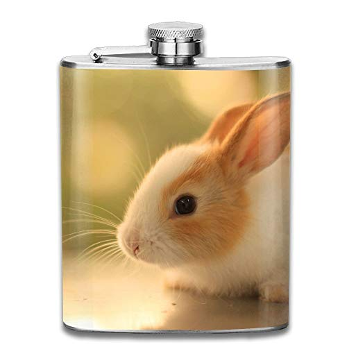 Adorable Bunny Animals Gifts Top Shelf Flasks Stainless Steel Flask