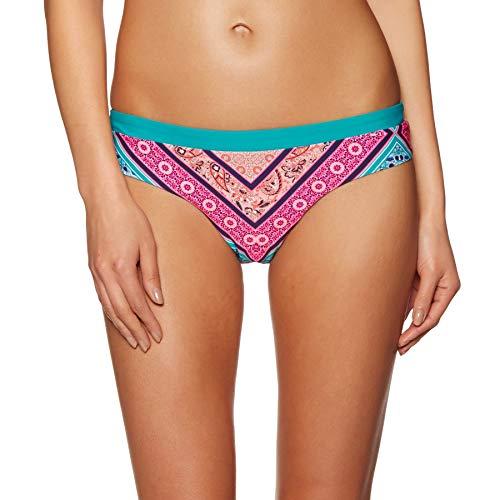 O'Neill Damen Fancy Laguna Bikini Bottom Bademode, Green AOP W/Pink Or Purple, 36