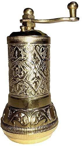 "Pepper Mill, Spice and Coffee Mill,anadolu turkısh coffe grinder Adjustable Coarseness,Premium Grinder & Casting Best Carving Metal grinder-, 4.2"""