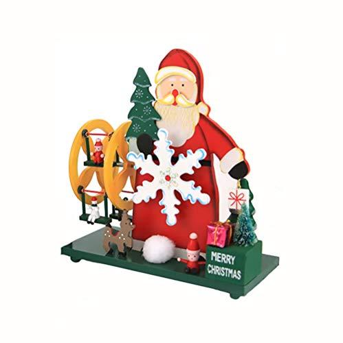 Haus perfetta Kerstmis oude man Ferris wiel windmolen muziekdoos ambachten ornamenten sturen meisjes geschenken Kerstmis feest vakantie lay-out levert decoratieve benodigdheden rekwisieten ornamenten muziekdoos