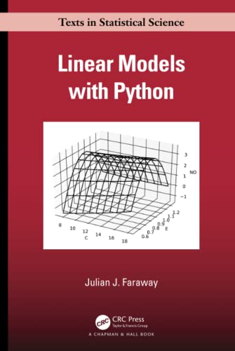 Compare Textbook Prices for Linear Models with Python Chapman & Hall/CRC Texts in Statistical Science 1 Edition ISBN 9781138483958 by Faraway, Julian J.