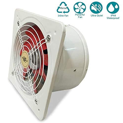 250mm/10inch Silenziosa Bagno Cucina Aspiratore Estrazione Ventilazione Motore a fili di rame Ventola di scarico potente silenziosa, Volume d'aria: 2100m³ / h 100w