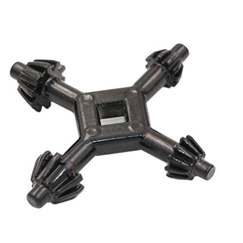 Ba30DEllylelly 4 en 1 Universal multifunción Taladro de Mano Llave Portabrocas Cuatro Cabezales Taladro eléctrico Gadget portátil al Aire Libre