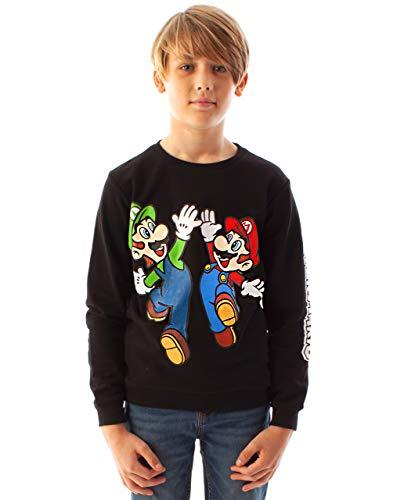 Unbekannt Super Mario Sweatshirt Luigi Charakter Schwarz Langarm Jungen Pullover
