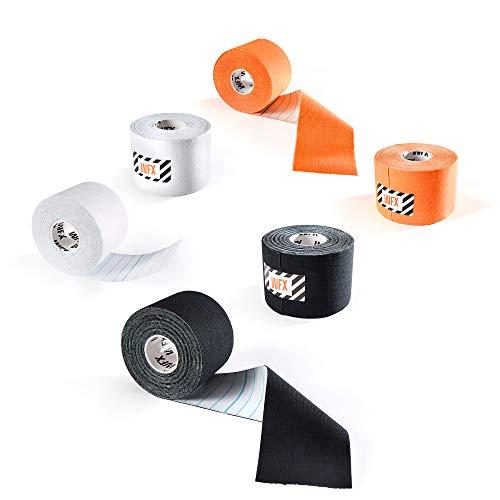 DoYourFitness Kinesiologie Tape Set 6er - 5m x 5cm - Selbsklebend, Wasserresistent, Latexfrei, 100% Baumwolle - Ideales Physio Tape, Sport Tape & Body Tape