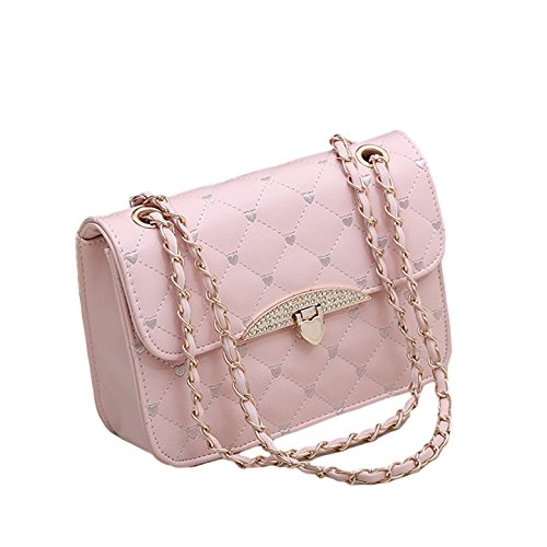 New Quilted Faux Leather Chain Cross Body Handbag Vintage Evening Shoulder Bag