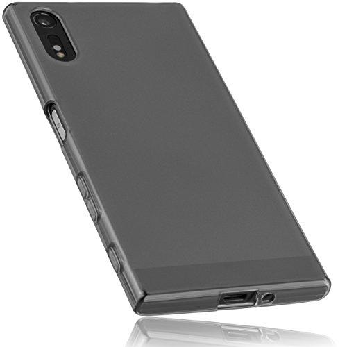 mumbi Hülle kompatibel mit Sony Xperia XZ / XZs Handy Hülle Handyhülle, transparent schwarz