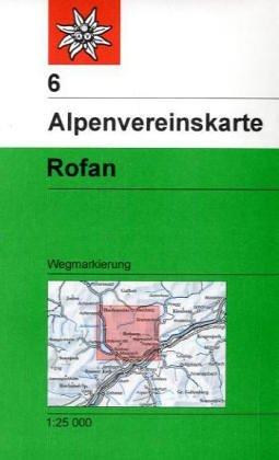 Rofan: Wegmarkierung (Alpenvereinskarten)
