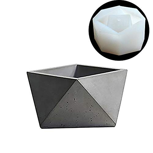 Nicole Silicone Cement Mold for Concrete Flower Pot Making Mould Handmade Craft Bonsai Tool