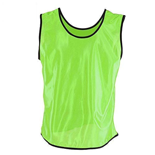 Demeras Chalecos de Entrenamiento Deportivo Paquete de 12 Camisetas sin Mangas Transpirables Adultos Fútbol Baloncesto Equipo de Entrenamiento Chalecos para fútbol(Verde)