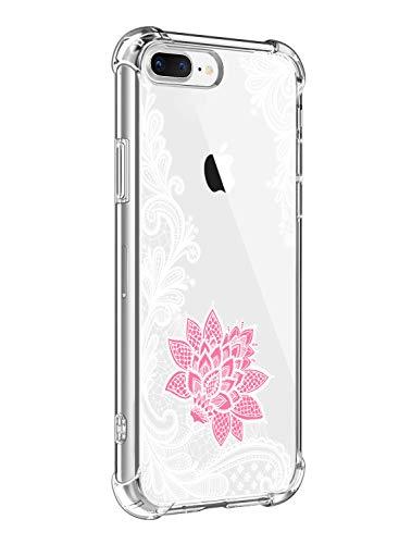 Suhctup Funda Compatible con iPhone XS MAX Carcasa Transparente,Dibujo Diseño Flor [Protección Caídas] Ultra-Delgado Flexible Silicona TPU Estuche Cover para iPhone XS MAX,Mandala 5