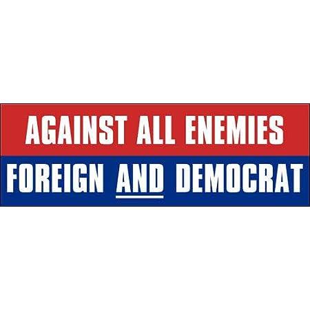 ARE YOU AN AMERICAN OR A DEMOCRAT Pro-Trump Bumper Sticker