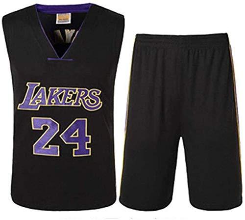 Hyzb Ropa de Baloncesto Boy Hombres-Los Angeles Lakers Kobe Bryant 24 Bordados Kits Trajes Jersey Jerseys del Baloncesto de Verano (Color : XL (85kg~95kg))