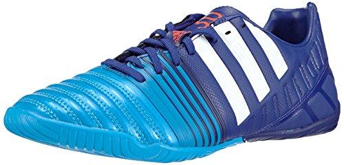 adidas Nitrocharge 3.0 Indoor - Zapatillas de fútbol para Hombre, Color Multicolor (Amazon Purple f14/ftwr White/Solar blue2 s14), Talla 40 2/3