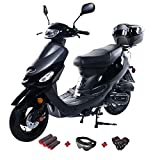 X-PRO 50cc Moped Scooter Gas Moped 50cc Scooter Street Bike (Matte Black)