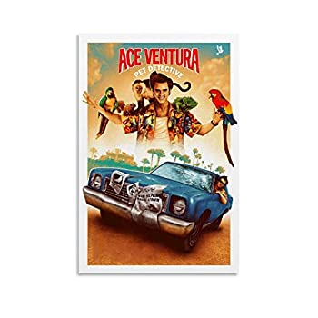 LZDD Comedy Movie Poster Ace Ventura Pet Detective Canvas Art Poster and Wall Art Picture Print Modern Family Bedroom Decor Posters 24x36inch 60x90cm