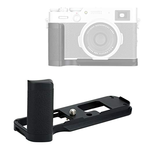 JJC HG-X100V Fuji X100V Hand Grip, Fuji X100V Grip, Arca Swiss Type Quick Release QR, Anti Slip Metal Holder Hand Grip, Aluminum Aloy, Compatible with Fujifilm X100V X100F
