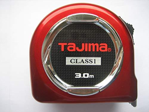 Tajima TAJ-21110 Robustes Bandmaß, Class 1, Rot, 5 m x 25 mm