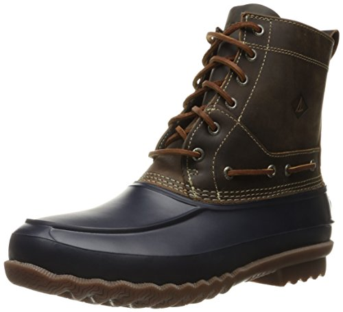 Sperry Top-Sider Men's Decoy Rain Boot, Navy/Tan, 10 M US