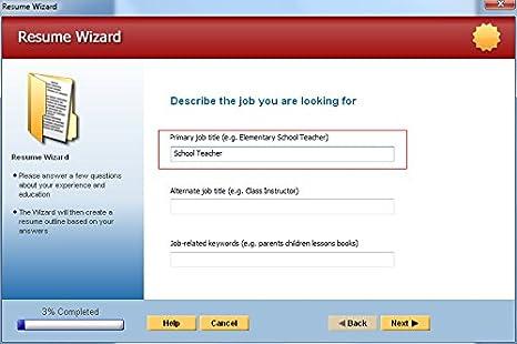 winway resume deluxe lab