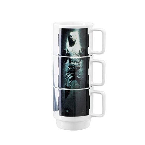 Underground Toys Stacking Slave Leia Han In Carbonite Lando Star Wars Home Mugs by Underground Toys