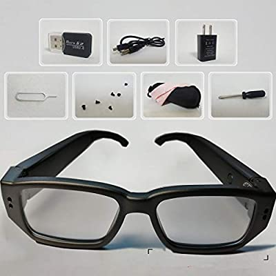 2020 Upgraded Spy Glasses Hidden Camera-32GB Included with Android Port-for Christma and Halloween by LDPmade