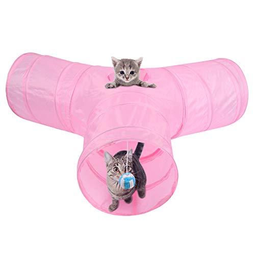 MFEI Túnel de Juego para Gatos, túnel para Mascotas, túnel de Juguete...