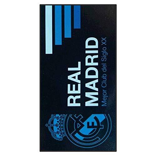 Toalla de playa con escudo del Real Madrid (100% algodón y 140 x 70 cm)