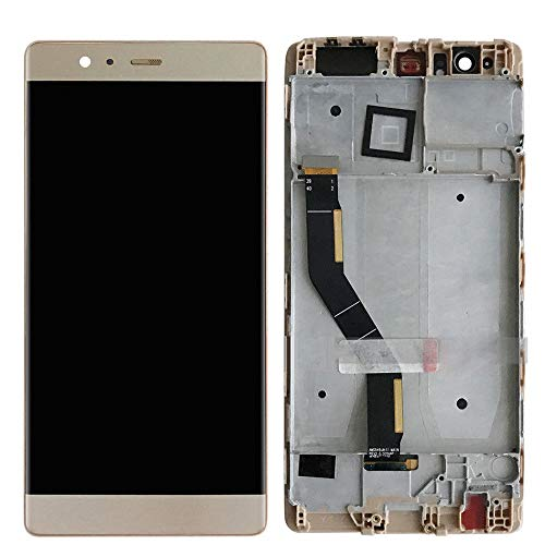 MOVILSTORE Pantalla Completa LCD + Tactil + Marco Compatible con Huawei P9 Plus Dorado