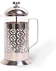 1L French Press roestvrijstalen koffiezetapparaat theepers koffiepers pers persstempelkan glas koffiepot persfilterkan theemaker glas koffiepot