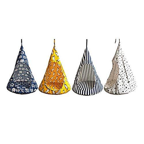 qisong Katze Zelt, Hängematte Tunnel lustige Katze Bett Zelt kegelförmige atmungsaktive Zelt Heimtierbedarf, zufällige Farben hängen