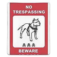 マウスパッド 犬注意 滑り止め マウス用パット ゲーミング 耐久性 約(18cm X 22cm) マウス パッド