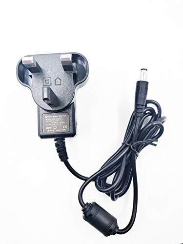 9V 1,5 A AC/DC-Netzteil Adapter Center Positiv 5,5 mm x 2,1 mm für Arduino Uno R3, Router, Küchenwaage, Schwinn-Fahrrad, Übungs-Ellipsentrainer-Liegetrainer usw.