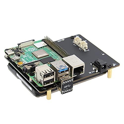 Geekworm Raspberry Pi 4 SATA, Raspberry Pi 4 Modèle B 2.5 Pouces...