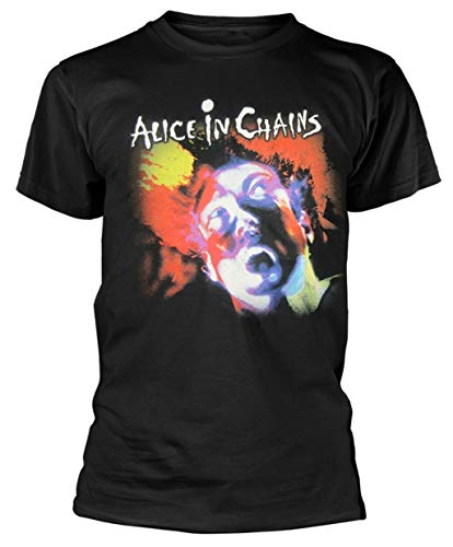 Alice in Chains Facelift T Shirt New Men T-Shirt 100% Cotton Sleeve Shirt Black M