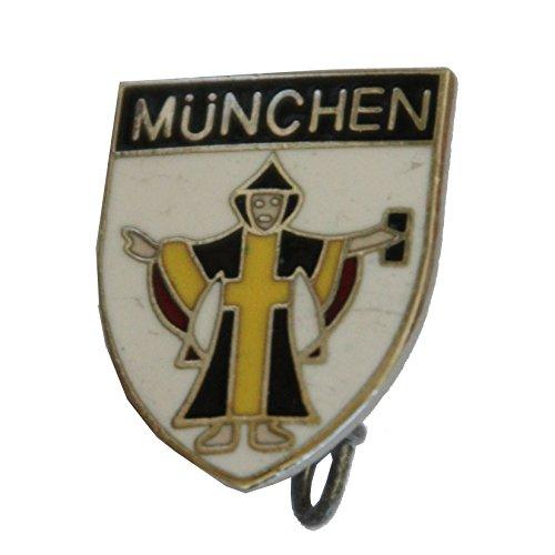 Breiter - Hutanstecker, Hutabzeichen, Hutschmuck, Anstecker: Münchner Kindl Emblem weiß