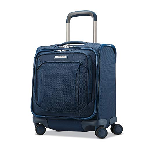 Samsonite Lineate Underseat Carry On Boarding Bag with Spinner Wheels, Evening Teal