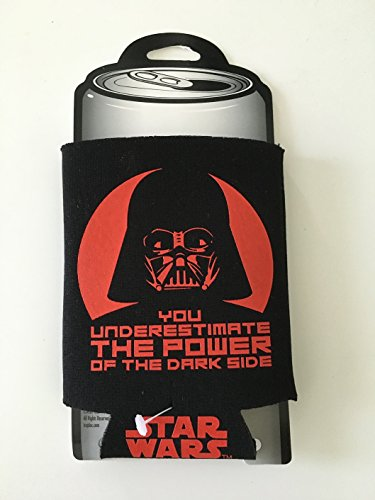 Star Wars Koozi (S) 12 oz lattine per bevande fredde a tema 340 g ca. Darth Vader - 'You Underestimate The Power Of The Force'