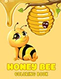 Honey Bee Coloring Book: 50+ GIANT Great Pages with Premium Quality Images. Lovely coloring journal book for Fans of All Ages help reduce stress.