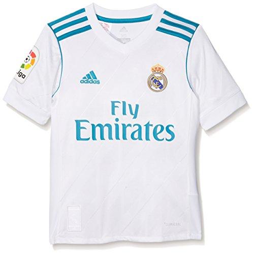 adidas Real H Jsyy Lfp Camiseta, Niño Unisex, Blanco/Azuint, 164