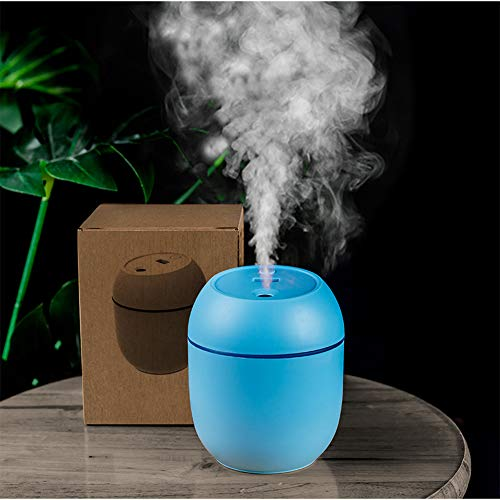 Generies Brands USB-Powered Mini Humidifiers for Bedroom Baby Home Office Car with LED,Air Humidifier for Facial moisturizer (Blue)