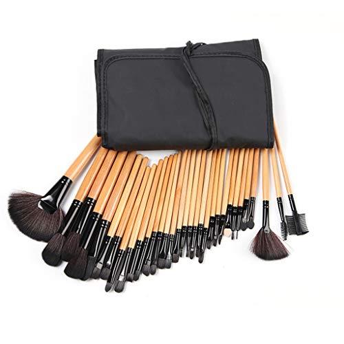 32 Pièces Ensemble Pinceaux de Maquillage Professionnels Ombre à Paupières Pinceau Multifonction Kit Makeup Brushes Top Qualité Outils De Beauté à Yeux Pour Débutants avec Trousse de Maquillage