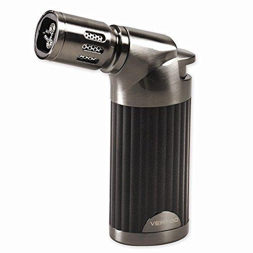 Zippo Vertigo Champ Black Matte and Gunmetal Quad Flame Table Torch Lighter