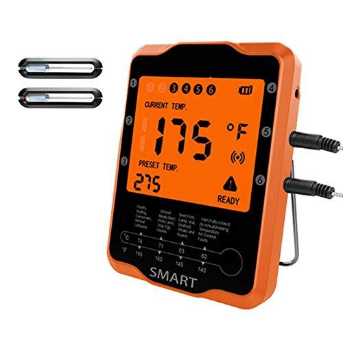 Subobo Termómetro De CocinaTermómetro De Cocina Remoto Inalámbrico Inteligente Medidor De Temperatura DigitalCocción con Termómetro