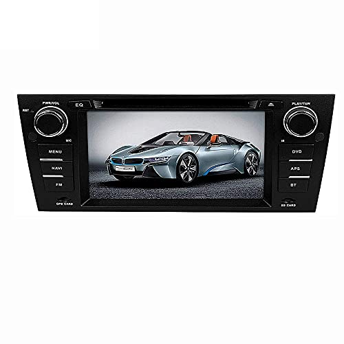 ZHANGYY Nav 9 Inch 2 DIN Car Stereo Android Unidad Principal GPS Car Radio WiFi USB Touch Sn Mirror Link Control del Volante - Aplicable Compatible con BMW E90, Navigator Bluetooth FM Am